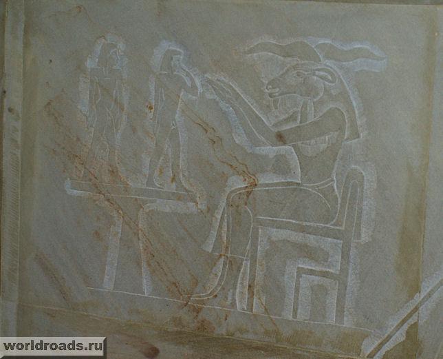 Изображение на стене пирамиды