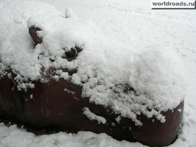 Портрет бегемота в снегу