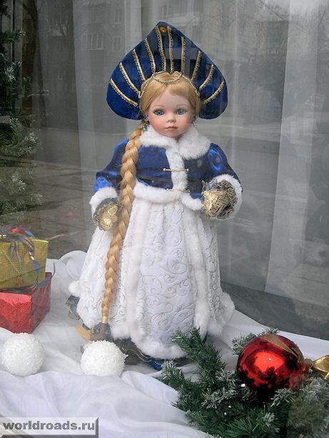 "Снегурочка в витрине ДК ""Роствертол"""
