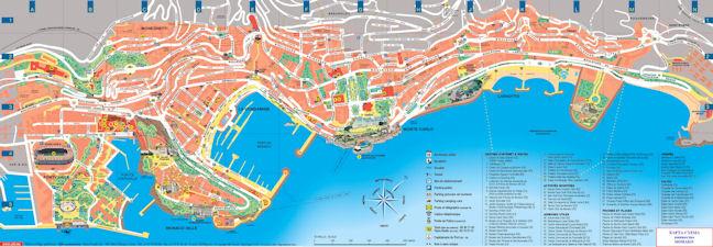 Карта-схема Монако