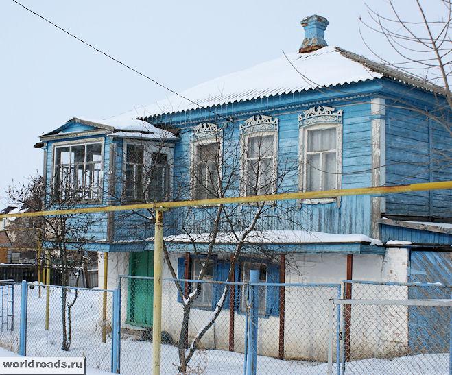 Старочеркасский домик с красивыми окнами