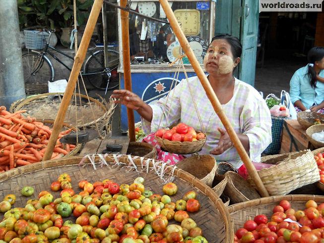 Весы на базарах Мьянмы