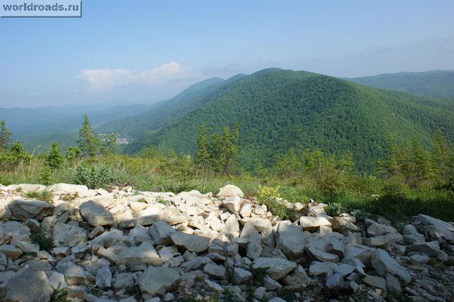 Вид с горы Нексис на восток