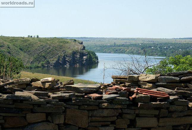 Вид на Северский Донец