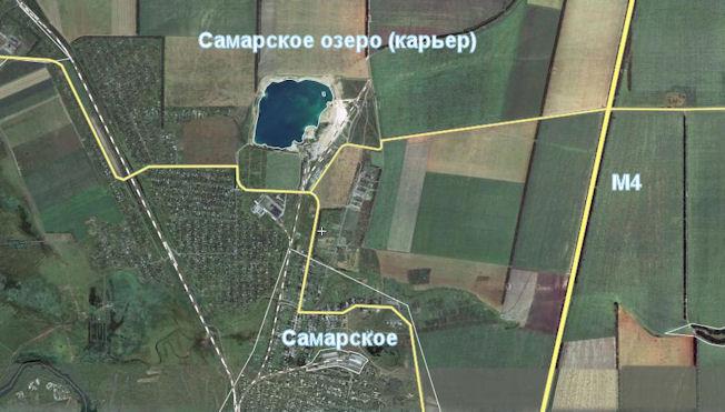 Самарское озеро карта