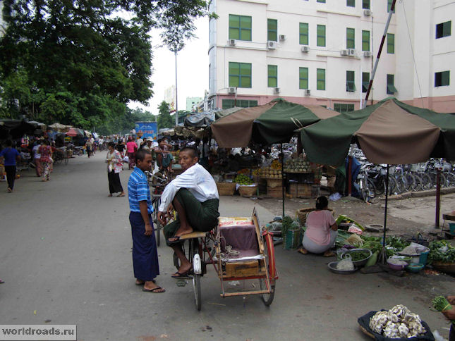 Велотакси в Мандалае
