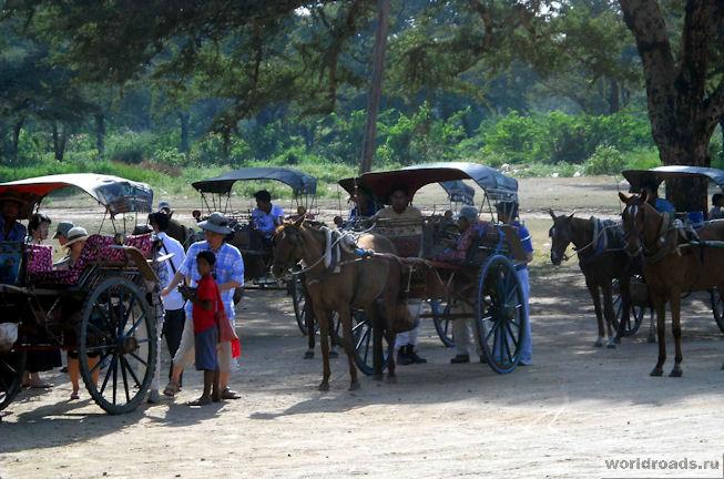 Конный транспорт в Мьянме