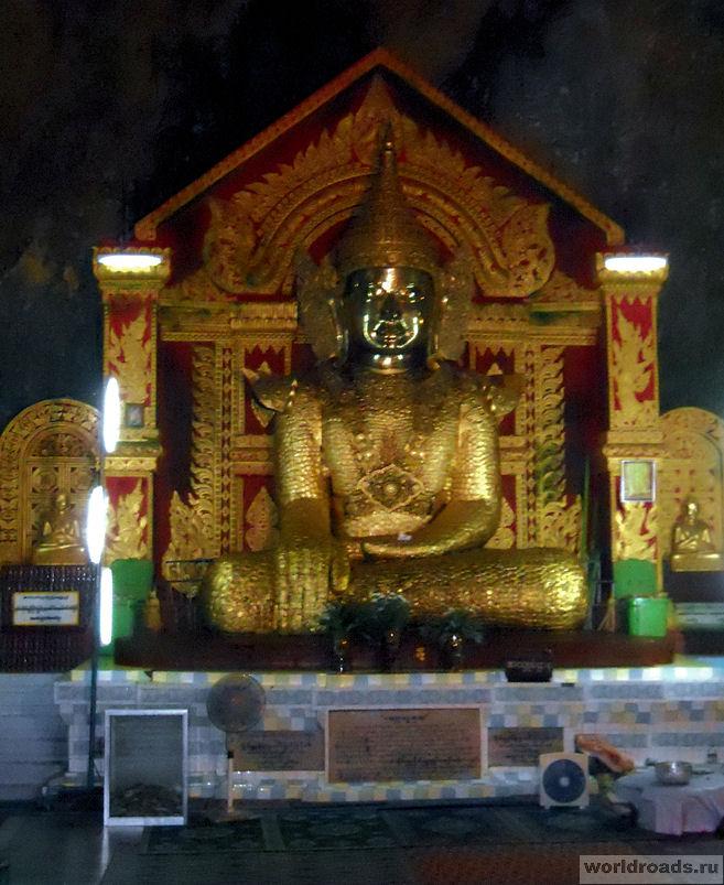 Будда с золотыми пластинками