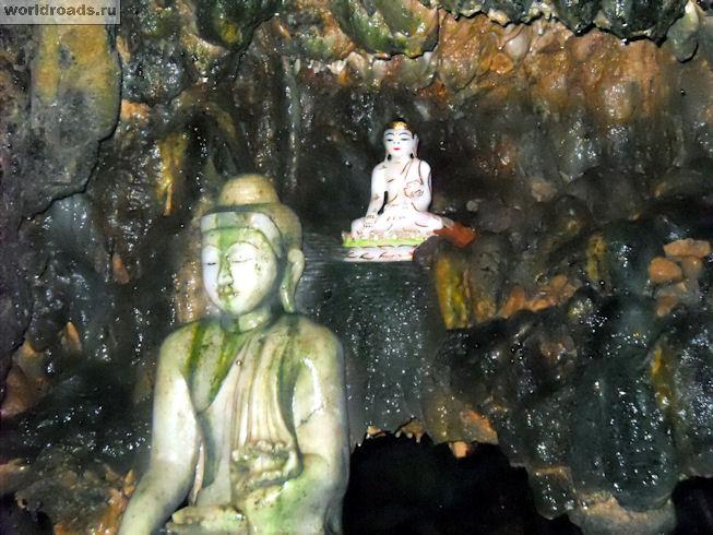 Статуэтки в пещере Maha Nadamu