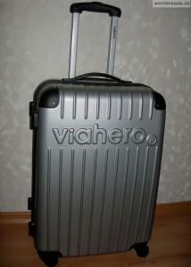 Дорожный чемодан с телескопической ручкой