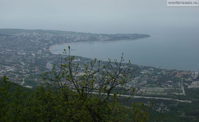 Вид на Геленджик с обзорной площадки
