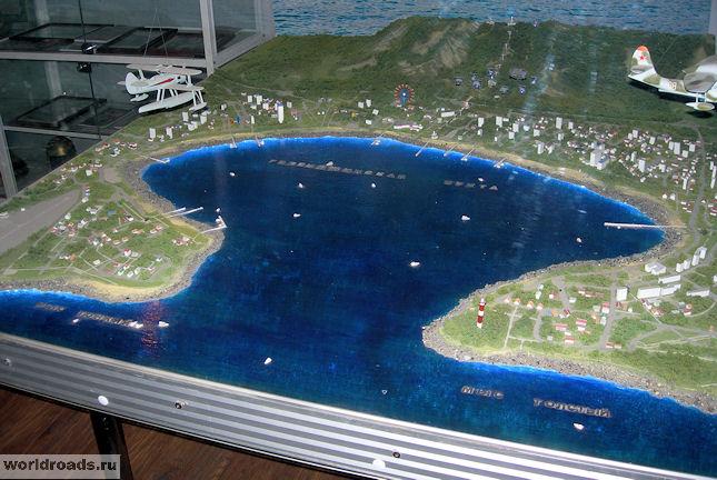 Макет Геленджикской бухты