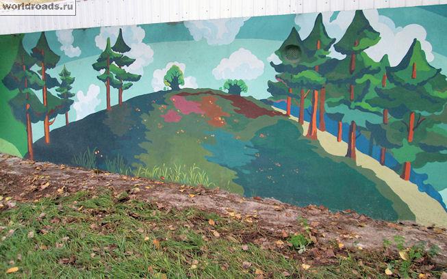 Граффити на улице Ларина