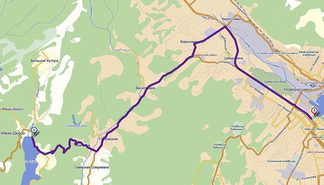 карта Абрау-Дюрсо