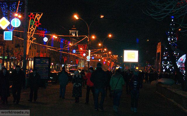 Большая Садовая в Новый год