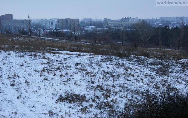 Ботанический сад Ростова-на-Дону. Вид из Ботаники на город