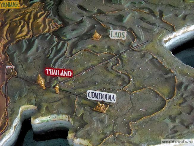 Карта рапространения буддизма