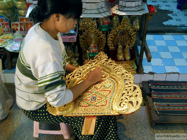 Рынок сувениров в Мандалае