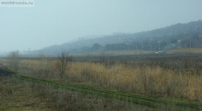 Аксайский холм в тумане